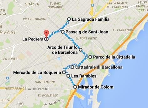 Itinerario Barcellona Primo giorno