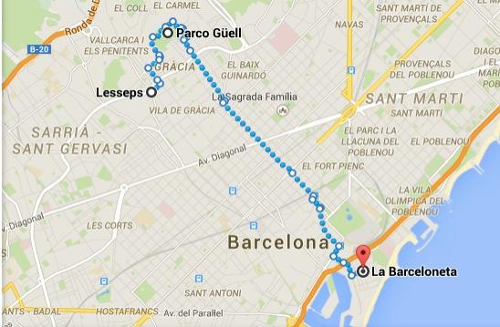 Itinerario Barcellona Terzo giorno