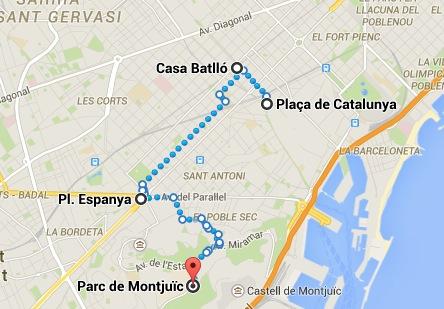 itinerario Barcellona Secondo giorno