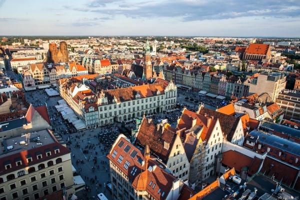 Breslavia dall'alto