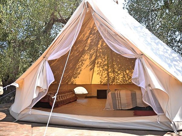 Macarìa foto interno tenda